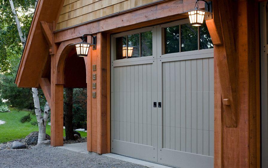 Know Your Options Before Choosing The Ideal Garage Door Craftsman Style Garage Doors Wooden Garage Doors Garage Door Colors