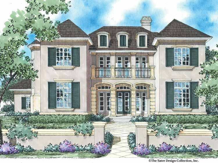 Country Style House Plan 5 Beds 3 5 Baths 3578 Sq Ft Plan 930 335 French Country House Plans Country Style House Plans French Country House