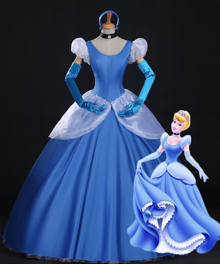 Customize Princess Cinderella Party Dress Cosplay Costume on Your Size