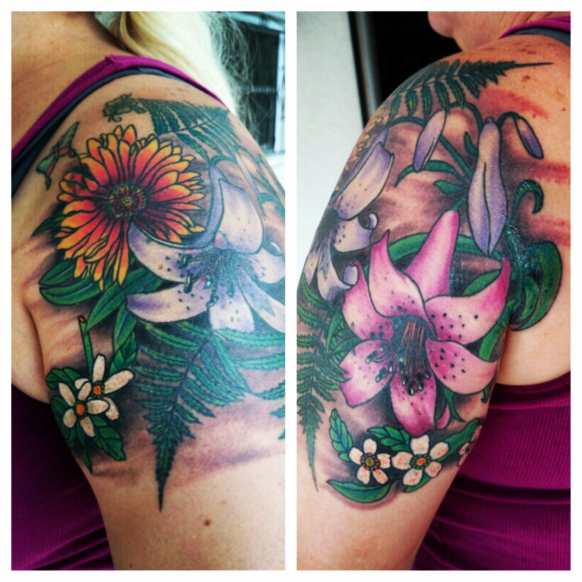 Florida flowers scott fischer tattoo artist tampa fl
