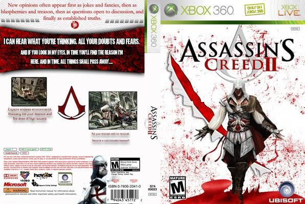 Assassins Creed Ii Xbox 360 Cover Free Covers Xbox Assassins