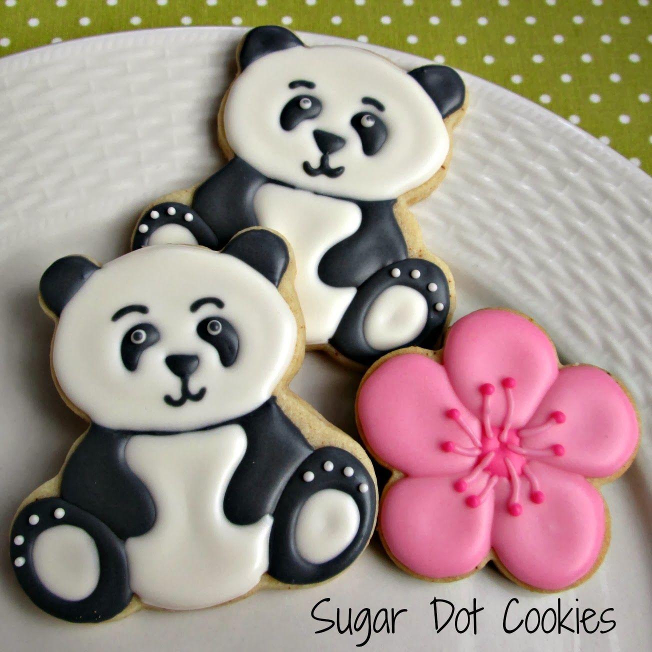 Osos Panda Galletas Decoradas Osos Sugar Cookies