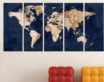 Abstrakte Wandkunst, Alte Welt Karte Wandkunst Druck, Große Weltkarte Wand  Kunst Leinwand, Fine Art Print Wohnzimmer Und Aoffice Dekor, 7s74