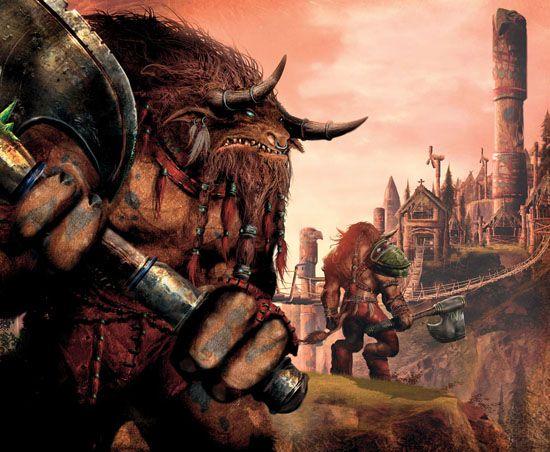 Taurens at Thunderbluff - World of Warcraft