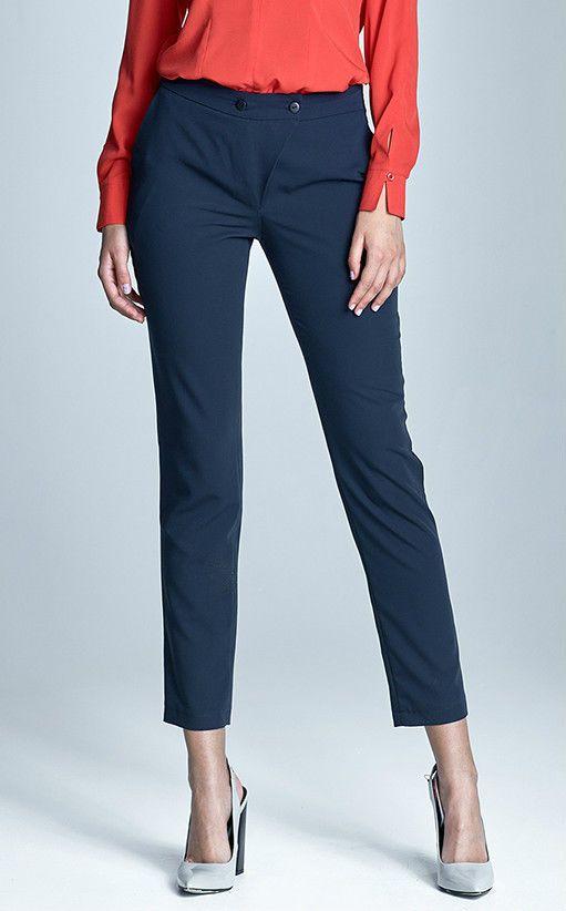 Pantalon bleu marine femme tailleur Chic qualité SD22 NIFE 36 38 40 42 44 f140ea5df01