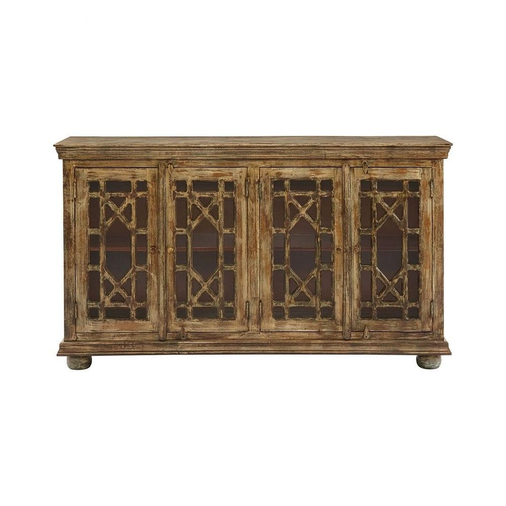 Farella Park 72 Inch Console Cream Hand Painted Sage Finish In 2020 Stein World Console Table Wood Glass