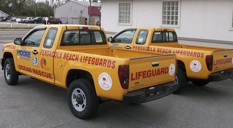 Lifeguard vehicle graphics by Pensacola Sign in Pensacola