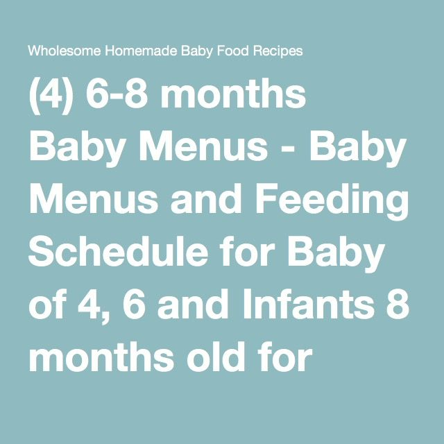 4 6 8 months baby menus baby menus and feeding schedule for