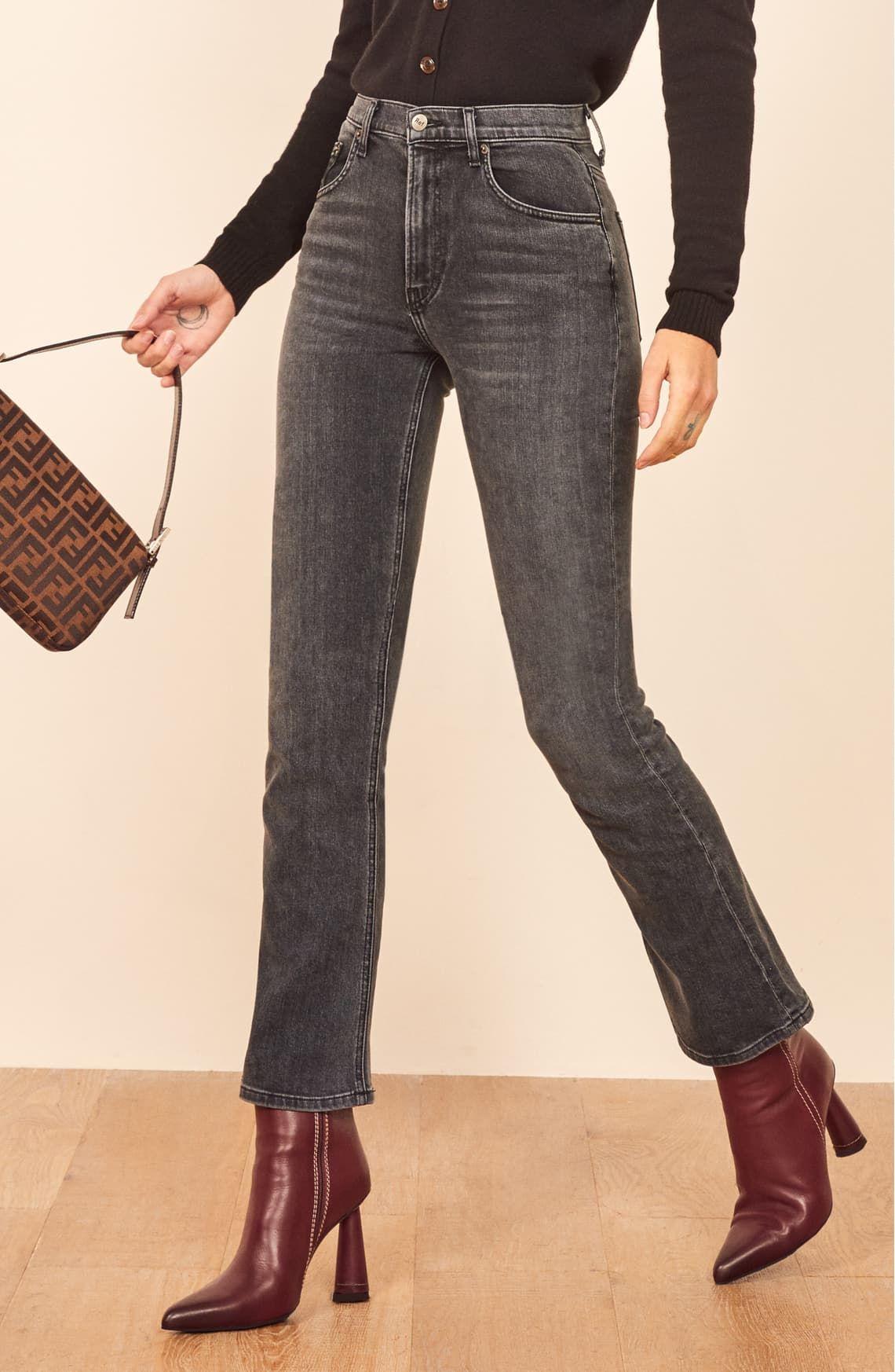 quality cheap price online here Reformation Jessie High Waist Crop Bootcut Jeans (Redondo   Jeans ...