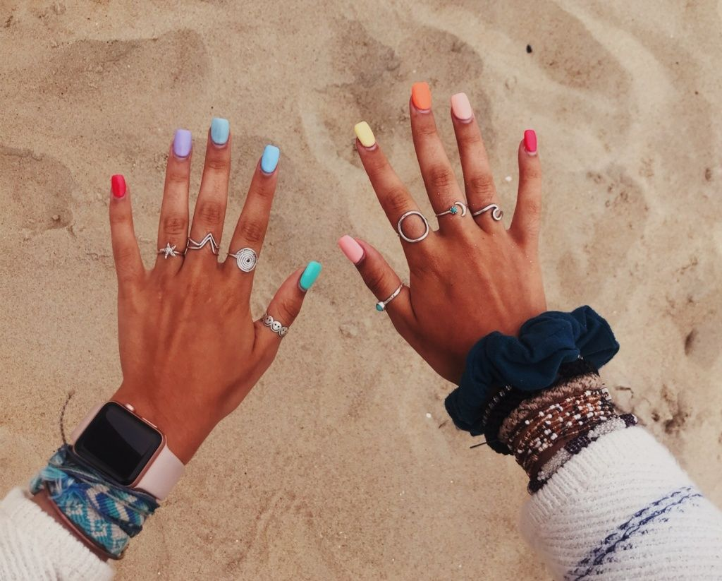 Vsco Lydiastoehr Short Acrylic Nails Pretty Acrylic Nails Cute Acrylic Nails