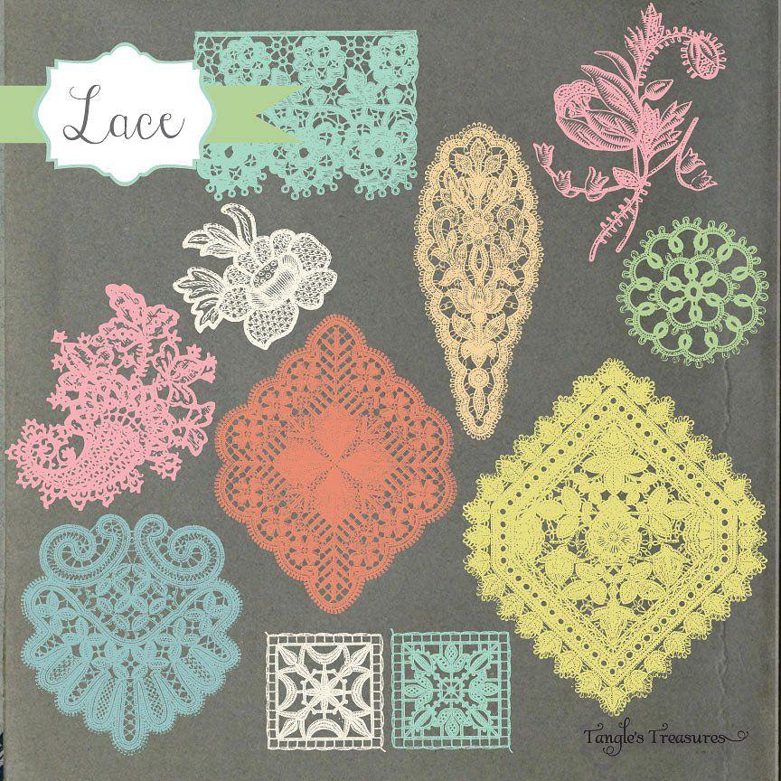 Vintage Lace Borders Clipart | Clip art borders, Clip art ...