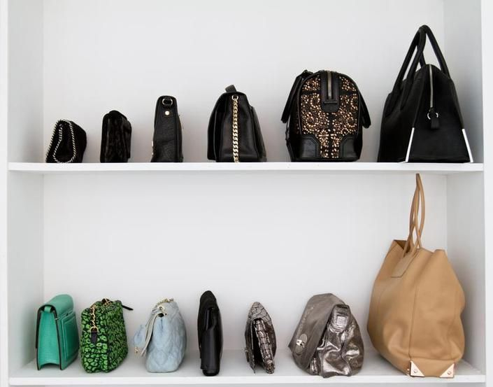 Image result for store handbag in shelf in room