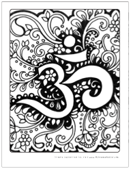 Om Symbol Free Art Therapy Coloring Pages | Adult Coloring Pages ...