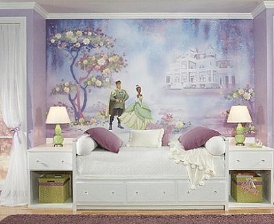 Disney Princess And The Frog Wall Mural Tiana Naveen Purple Wallpaper Decor Digital Scapbook
