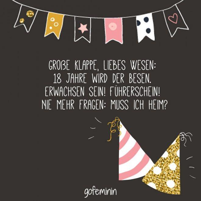 Wünsche Zum 18 Geburtstag Kurz | deknappekikker
