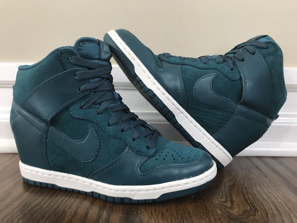 caa5401409e829 Women s Nike Dunk Sky 528899-300 Dark Sea Green Hidden Wedge Sneakers. Size  6.5  Nike  AthleticShoes