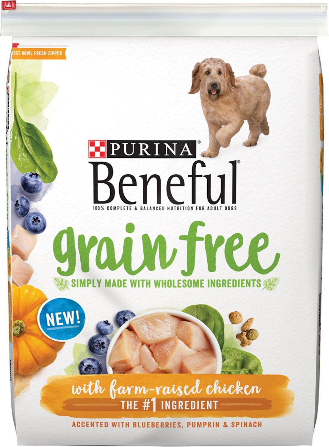 Fill Your Dog S Bowl With Purina Beneful Grain Free With Real Farm