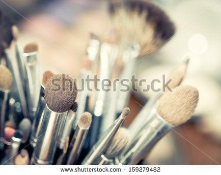 Professional makeup brush - stock photo