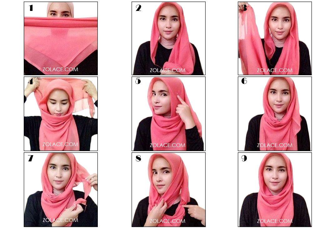 Cara Pakai Tudung Bawal Untuk Gadis Berwajah Bulat Models Blog