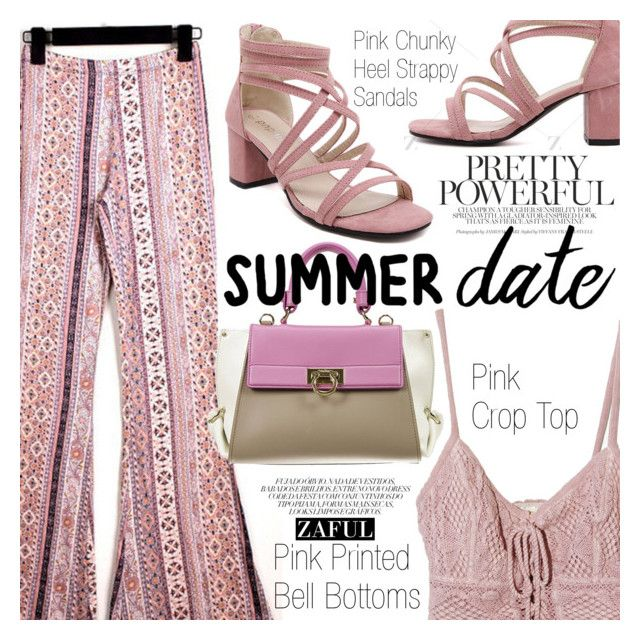 """Summer Date: Rooftop Bar"" by vanjazivadinovic ❤ liked on Polyvore featuring Jens Pirate Booty, Salvatore Ferragamo, polyvoreeditorial, summerdate, Poyvore, zaful and rooftopbar"