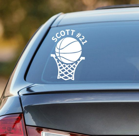 Basketball decal personalized basketball decal basketball car decal sports decal laptop sticker