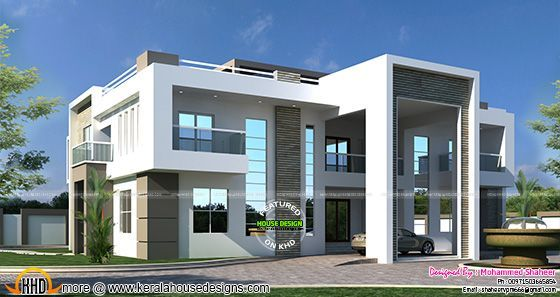 Mobili Arabi ~ Flat roof arabian house plan kerala home design and floor plans