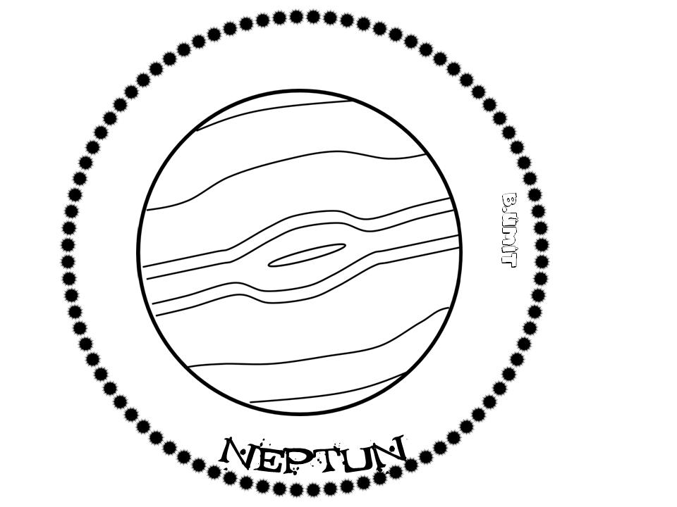Gunes Sistemi Kitapcigi Neptun Uzayda Yolculuk Gezegenler