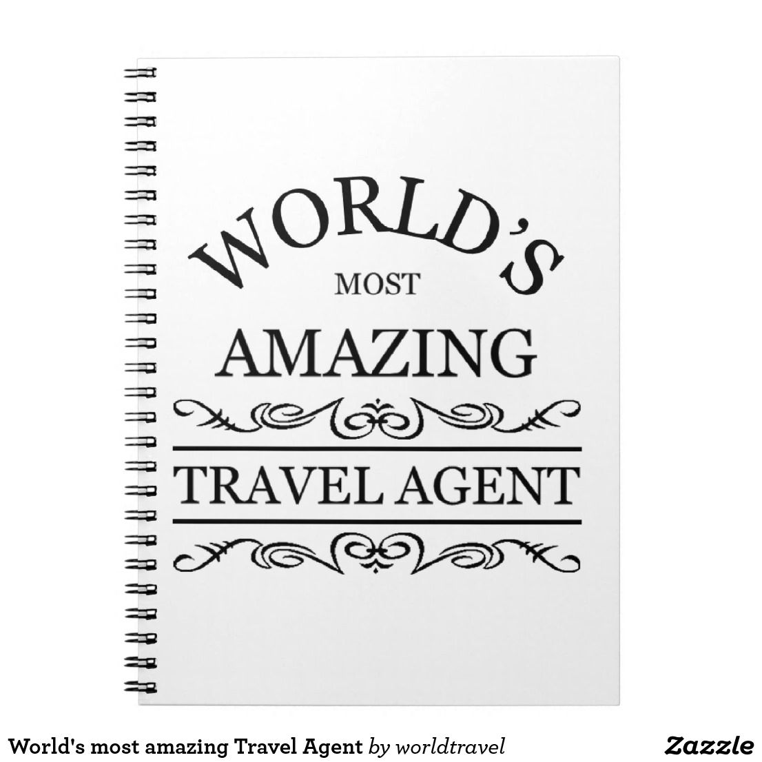 World's most amazing Travel Agent Notebook | Zazzle com