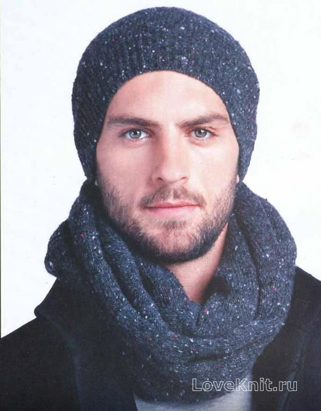 Схема вязания мужской шапки спицами фото 107