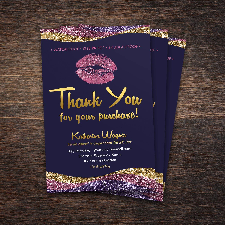 Lipsense Thank You Card Lipsense Thank You Lipsense Distributor