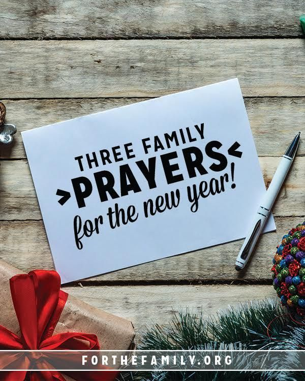 3 Family Prayers for the New Year   Prayer for family, New ...