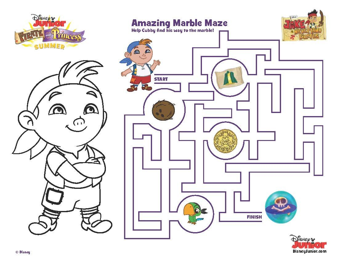 Cubby S Amazing Marble Maze Printable