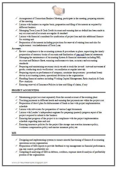 Good Resume Format For Experienced Accountant - Http://Www