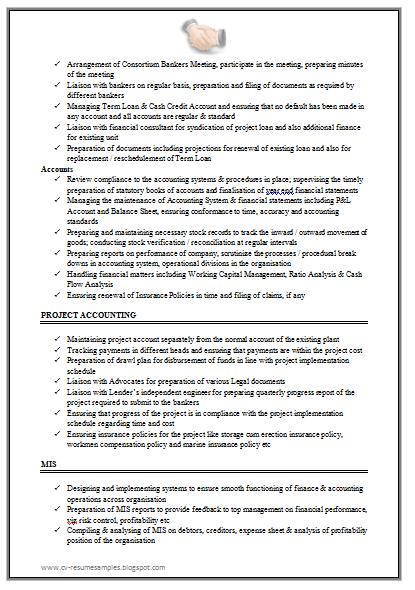 Chartered Accountant Resume Sample Doc