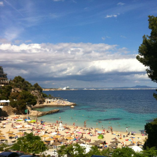 Best Places For Holiday In June: Ses Illetes Beach, Palma De Mallorca, Spain. June 2012