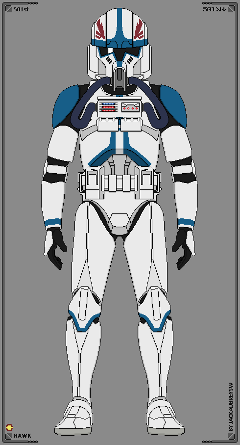 Hawk 501st Legion By Jackaubreysw Star Wars Characters Pictures Star Wars Infographic Star Wars Pictures