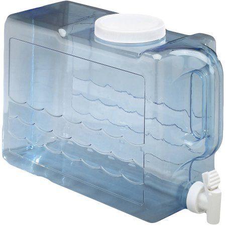 Arrow H2o 2 5 Gal Slimline Beverage Dispenser Blue Walmart Com Drink Dispenser Plastic Beverage Dispenser Dispenser Design