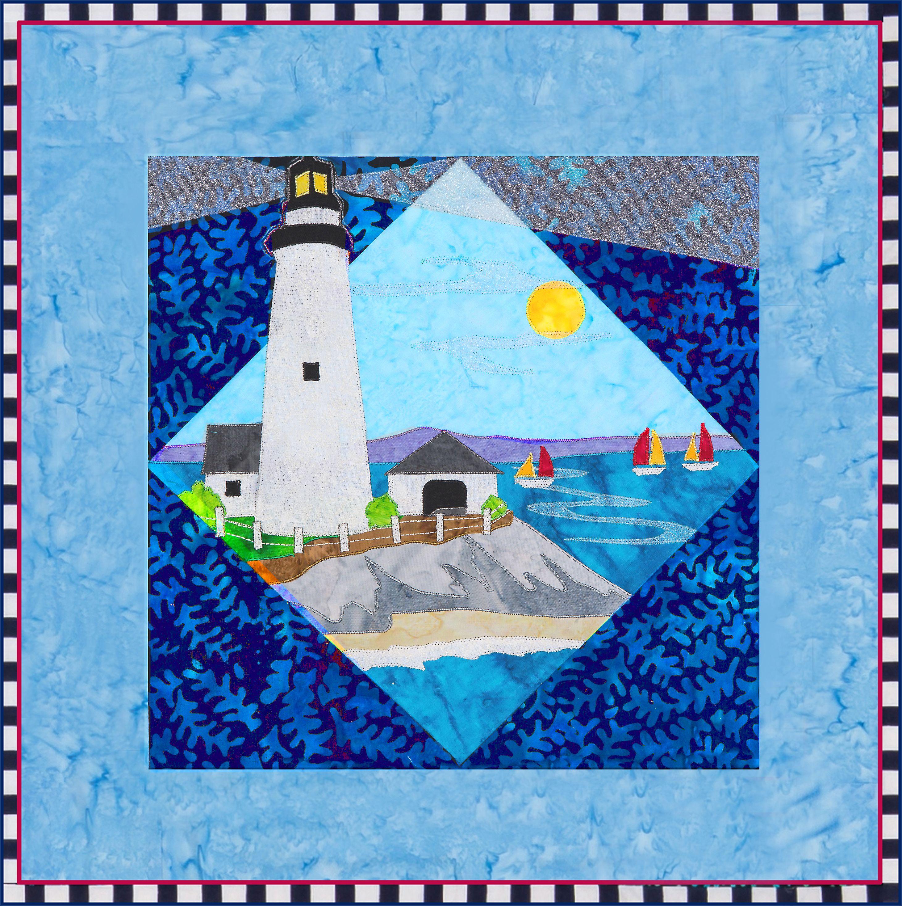 Boston Light Quilt Pattern By Debra Gabel Of Zebra Patterns Www