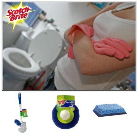 Con los productos para ba o scotch brite siempre querr s - Productos para limpiar el bano ...
