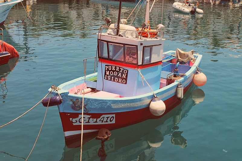 Cute boat in Gran Canaria