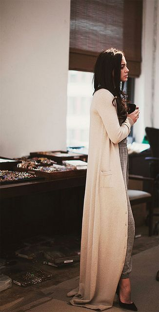 floor length cardigan
