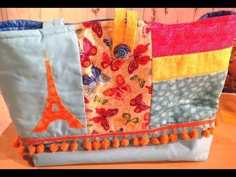 Quilting y Patchwork - Bolso - Maquinas de coser Elna - Silvia Herman - YouTube