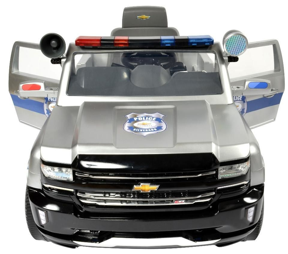 Toysrus Avigo Chevy Silverado Police Truck 6 Volt Powered Ride