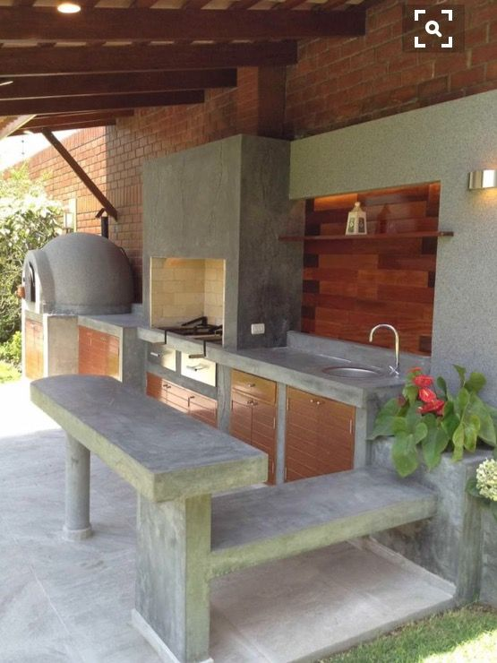 Concrete Kitchen Modern Outdoor Kitchen Outdoor Kitchen Bars