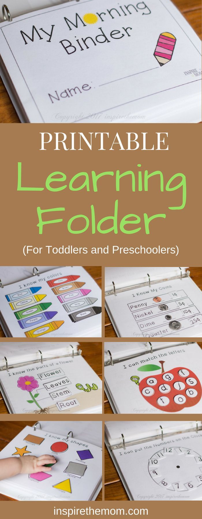 Printable Learning Folder for the Early Years - #activities #Early #Folder #Learning #Printable #Years #preschoolers