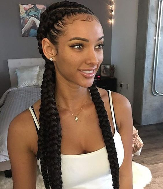 40 Super Cute And Creative Cornrow Hairstyles You Can Try Today Natural Hair Styles Cornrow Hairstyles Hair Inspiration
