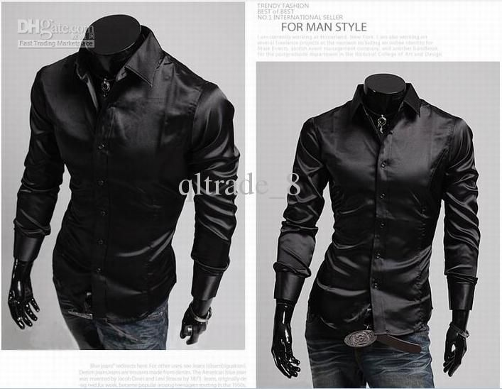 black slim fit shirt for men - Buscar con Google | Looks.. | Pinterest