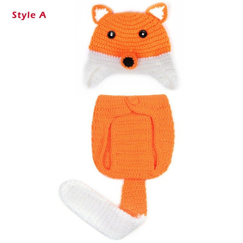c27828e96fcc Newborn Baby Boy Clothing Zootopia Nick Design 0-3 Month Knitted ...