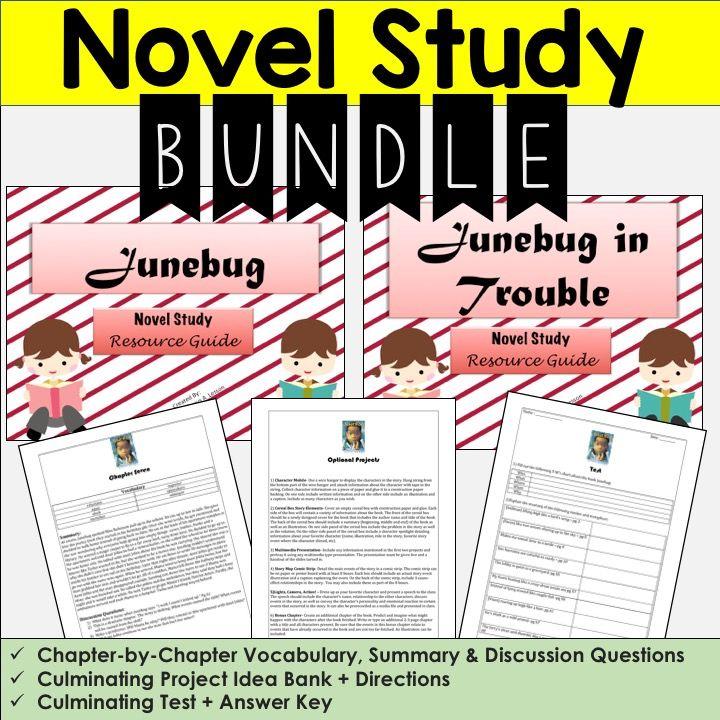 Junebug Junebug In Trouble Novel Resource Bundle Upper