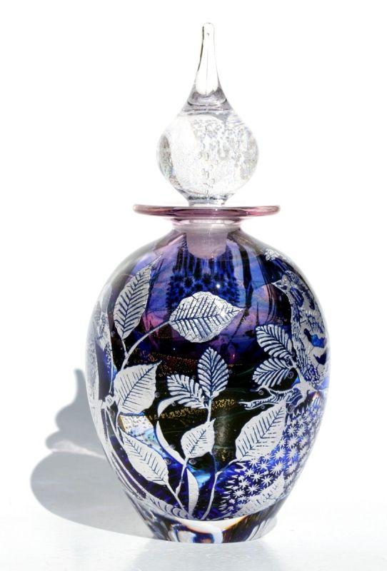 Glass Perfume Bottles | ... graal perfume code swallow chaffinch glass perfume bottle 15 5cm
